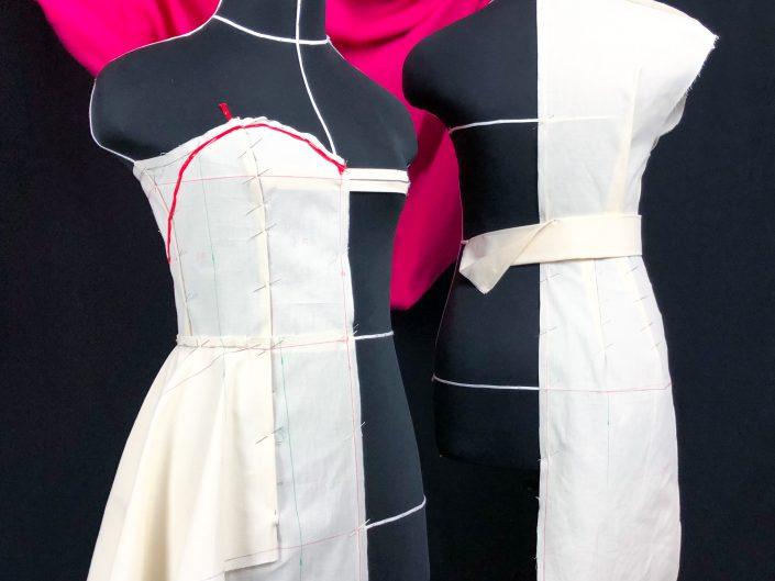Draping a bespoke dress